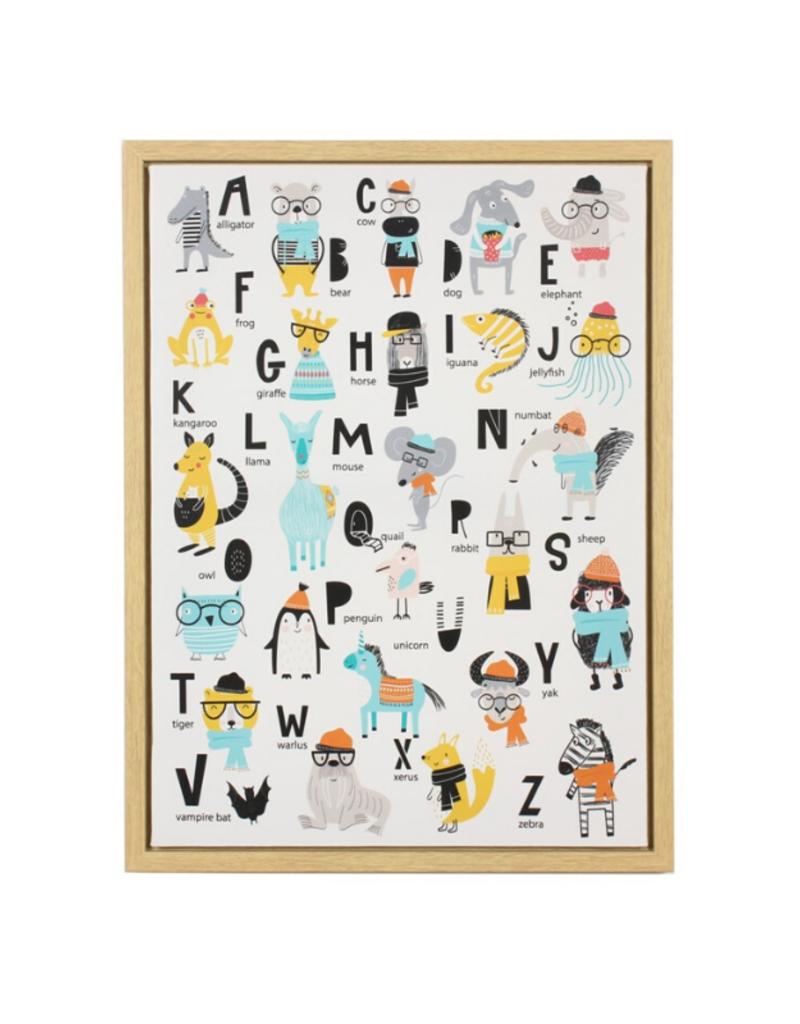 C.J. Marketing Ltd. A to Z Animal Canvas Framed Print