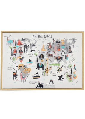 C.J. Marketing Ltd. Animal World Canvas Framed Print