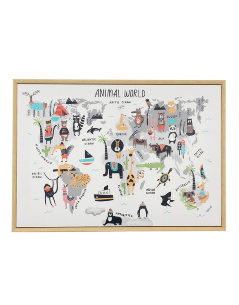 C.J. Marketing Ltd. Animal World Canvas Framed Print