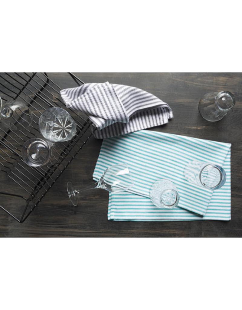Set of 2 Glass Tea Towels Black