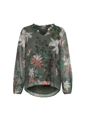 b.young b.young Hale Blouse in Sea Green Combi