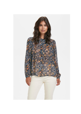 Part Two Part Two Aberte Blouse in Blue Wallpaper Print