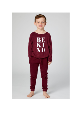 Goodhyouman good hYOUman Chelsea Be Kind Pullover in Beet