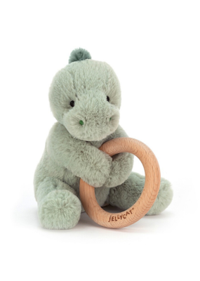 Jellycat Jellycat Dino Wood Ring Toy