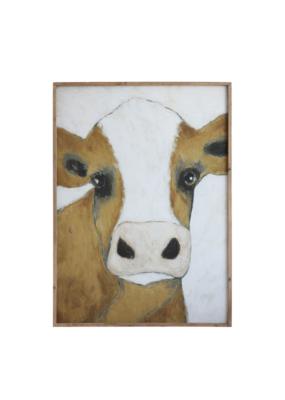 Wood Framed Cow Print