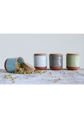 Terracotta Jar with Cork Lid