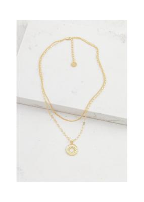 Lover's Tempo Lover's Tempo Sunburst Layered Necklace Gold