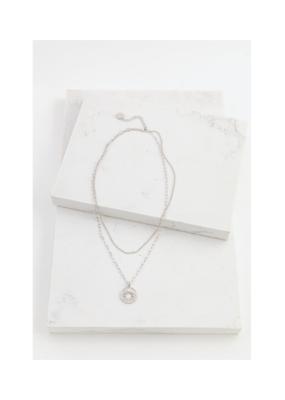 Lover's Tempo Lover's Tempo Sunburst Layered Necklace Silver