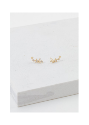 Lover's Tempo Lover's Tempo Gamma Climber Earrings Gold