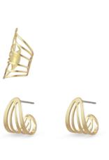 PILGRIM Pilgrim Frigg Earring & Cuff Set