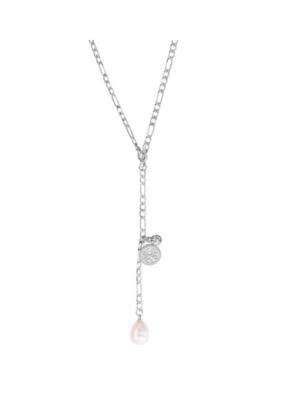 PILGRIM Pilgrim Urd Necklace White Silver