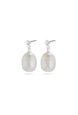 PILGRIM Pilgrim Urd Earrings White Silver