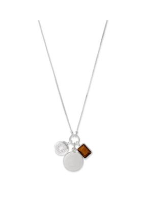 PILGRIM Pilgrim Verdandi Necklace  Silver Brown