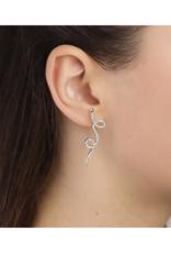 PILGRIM Pilgrim Ebba Earrings Crystal Silver