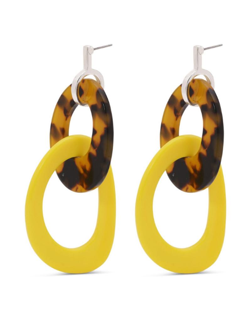 PILGRIM Pilgrim Balia Yellow Earrings