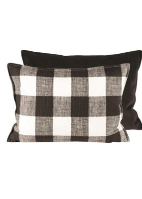 Black & White Check Pillow