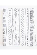 LouLou Lollipop LouLou Lollipop Swaddle Bamboo Mudcloth White