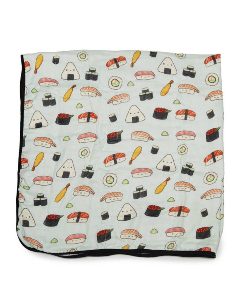 LouLou Lollipop loulou LOLLIPOP Muslin Quilt Blanket Sushi