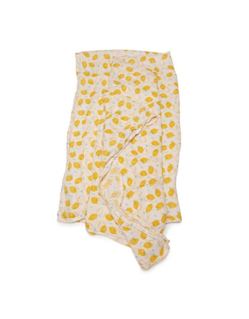 LouLou Lollipop Loulou Lollipop Muslin Swaddle in Lemon