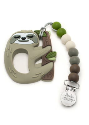 LouLou Lollipop Loulou Lollipop Silicone Teether Set Sloth