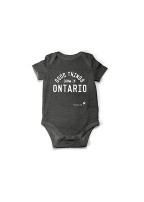 The Good Kid Clothing Co. Good Things Grow Onesie Grey