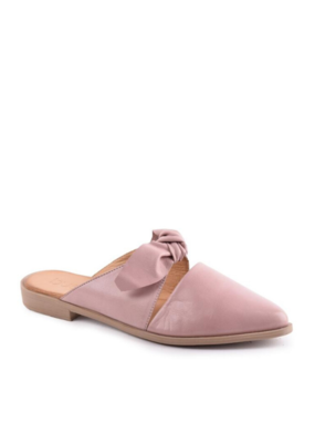 Bueno Bowery Mule in Dusty Mauve Leather by Bueno