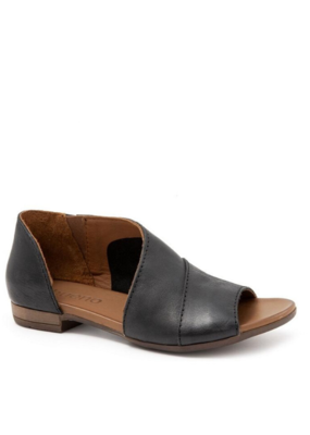 Bueno bueno Tanner Sandal in Black Leather