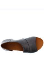 Bueno Tanner Sandal in Black Leather by Bueno