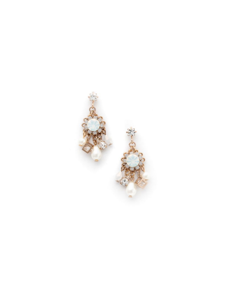 Lover's Tempo Lover's Tempo Bloom Chandelier Earrings in White Opal