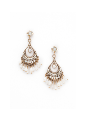 Lover's Tempo Lover's Tempo Coco Beaded Chandelier Earrings in White