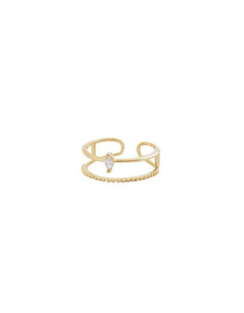 Lover's Tempo Marquise Ring Gold-Plated by Lover's Tempo