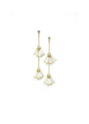 Lover's Tempo Lover's Tempo Soiree Drop Earrings in White