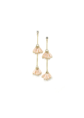 Lover's Tempo Lover's Tempo Soiree Drop Earrings in Peach Rose
