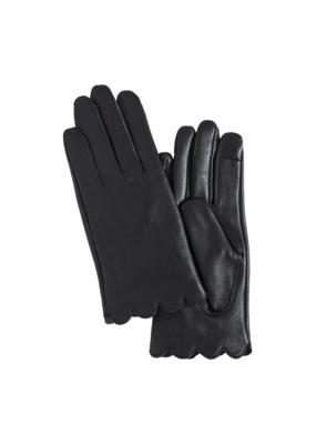 ICHI ICHI Elva Leather Gloves in Black