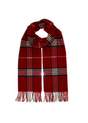 FRAAS Plaid Cashmink Scarf in Red