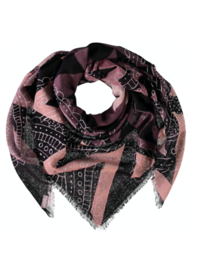 Fraas Boho Traveller Wool Scarf in Taupe