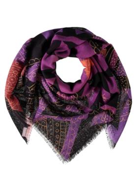 Fraas Boho Traveller Wool Scarf in Purple