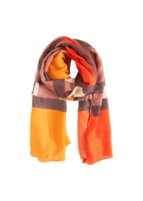 b.young b.young Viol Scarf in Orange Combi