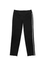 Up! Pants Techno Slit Ankle Pant Black with Silver Tape