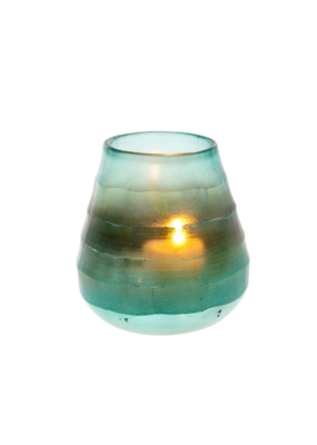 Large Cora Votive in Turquoise