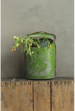 Embossed Tin Post Box Green