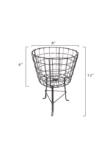 Round Wire Basket with Legs