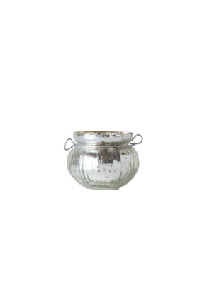 Mercury Glass Tealight Holder with Handle