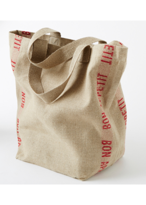 Charvet French Linen Bon Appetit Bag in Red