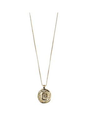 PILGRIM Pilgrim Feelings of L.A. Gold Coin & Crystal Necklace