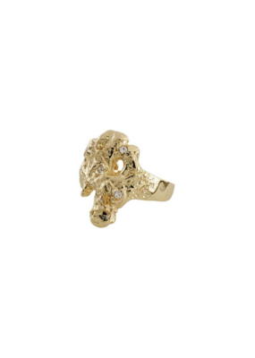 PILGRIM Pilgrim Feelings of L.A. Gold Crystal Ring