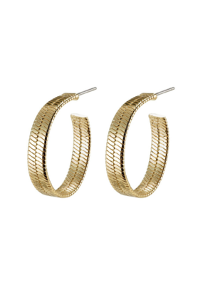 PILGRIM Pilgrim Gold-Plated Noreen Hoops