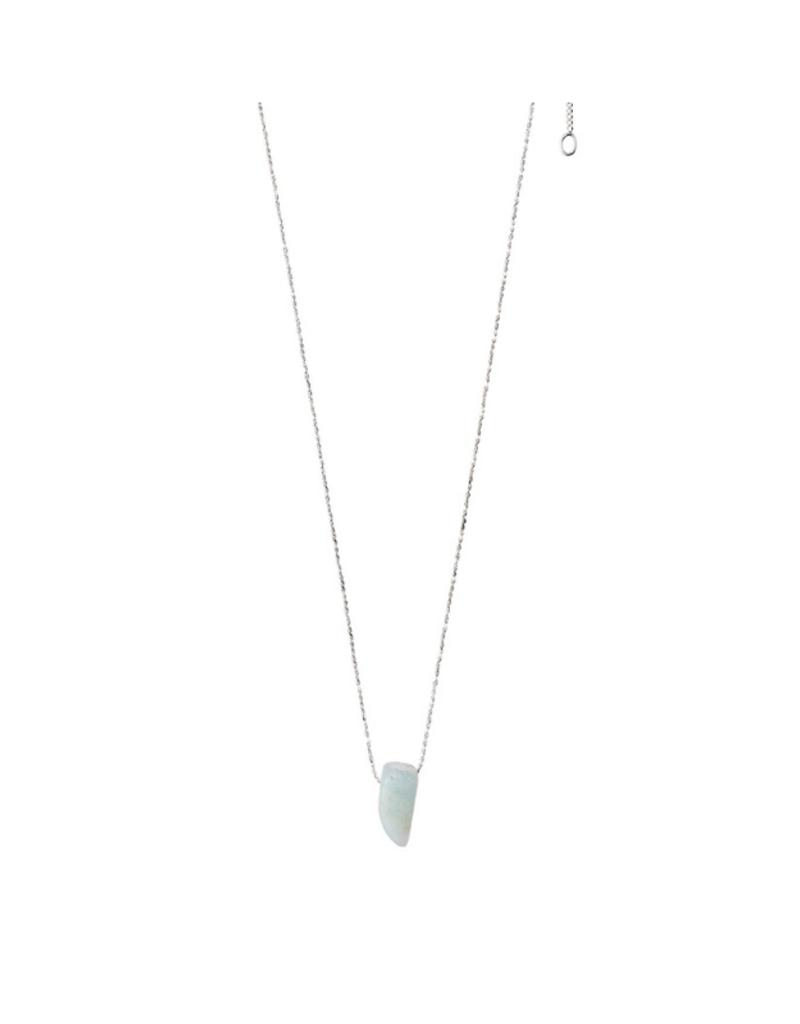 PILGRIM Pilgrim Necklace Silver Throat Chakra in Amazonite