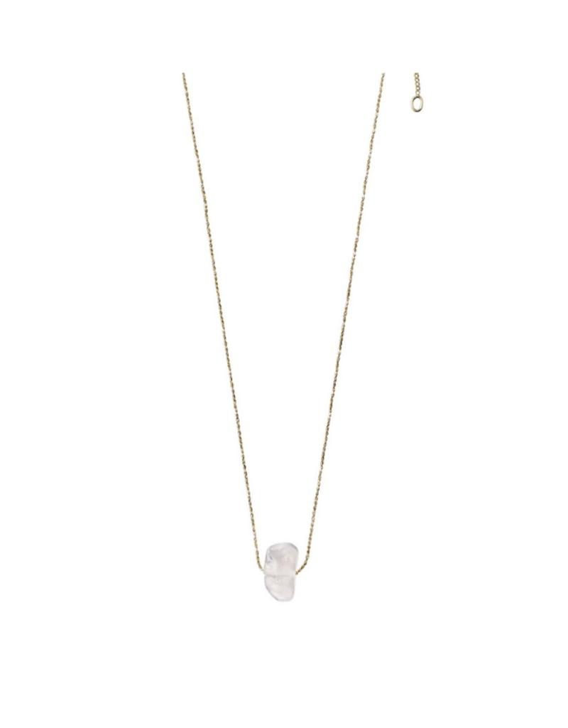 PILGRIM Pilgrim Necklace Gold Crown Chakra Quartz