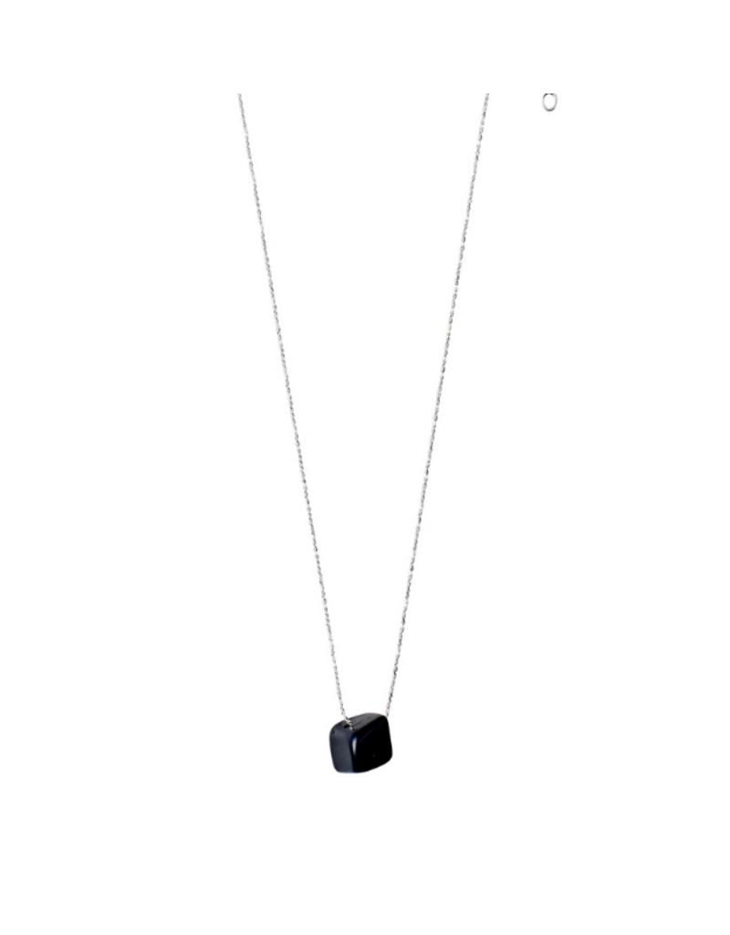 PILGRIM Pilgrim Necklace Silver Root Chakra Black Agate